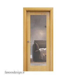 درب چوبی شیشه خور کد 3011