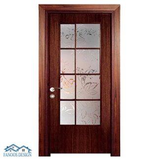 درب اتاق خواب کلاسیک شیشه خور کد MT3109