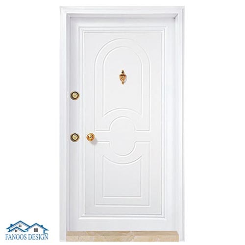 درب ضد سرقت سفید رویه PVC صدفی کد 374