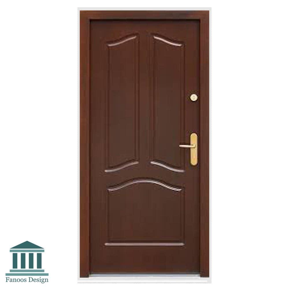 درب اتاق خواب سه قاب با رنگ پوششی کد 268